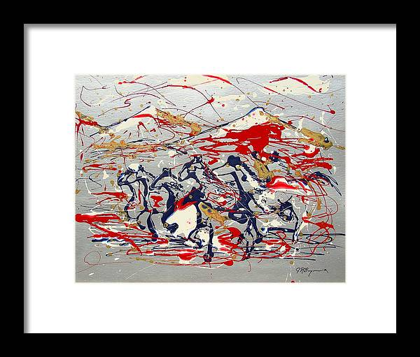 Impressionist Painting Framed Print featuring the painting Freedom On The Range by J R Seymour