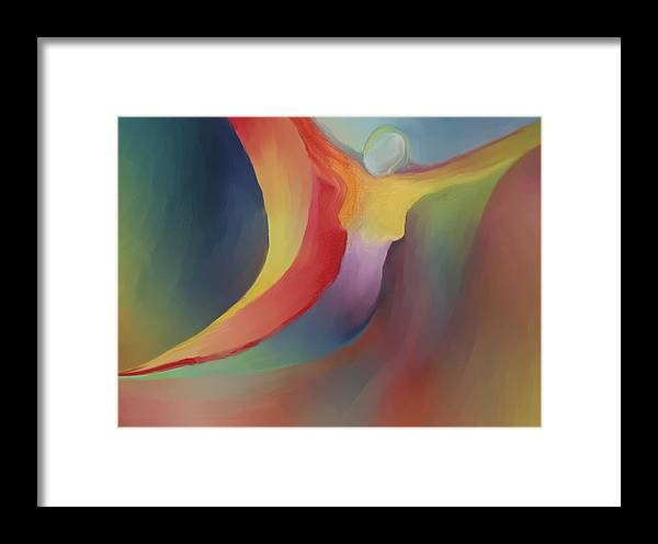 Abstract Framed Print featuring the painting Freedom by Peter Shor
