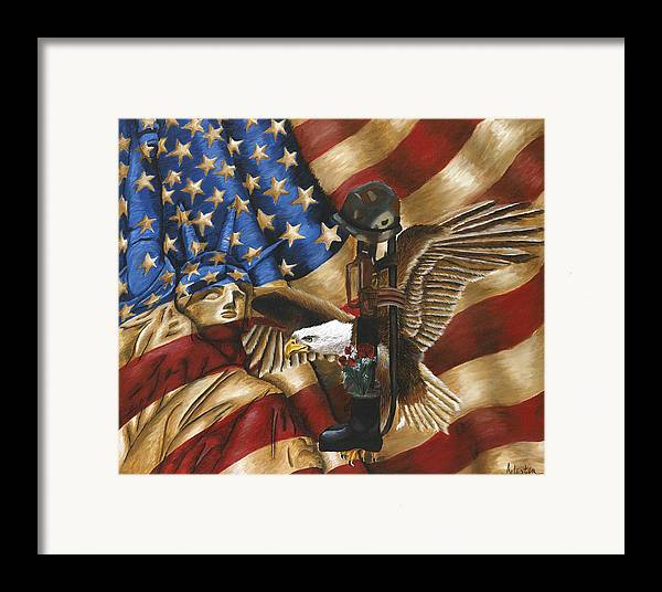 Tribute Framed Print featuring the painting Freedom by Renee Lindsey