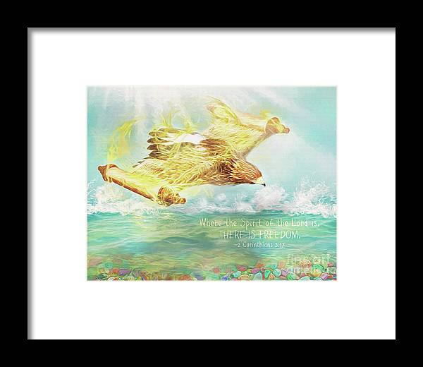 Spirit Framed Print featuring the digital art Freedom by Ulanawa Foote