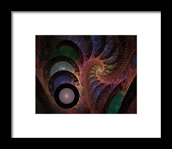 Abstract Framed Print featuring the digital art Freefall - Fractal Art by NirvanaBlues