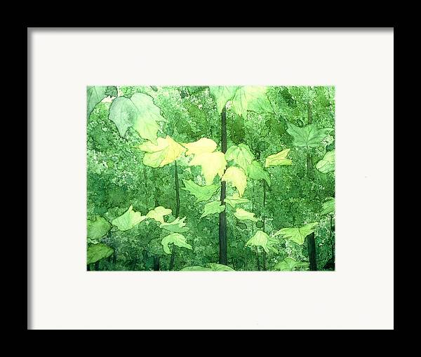 Watercolor Framed Print featuring the painting Freefall by Cynthia Ann Swan