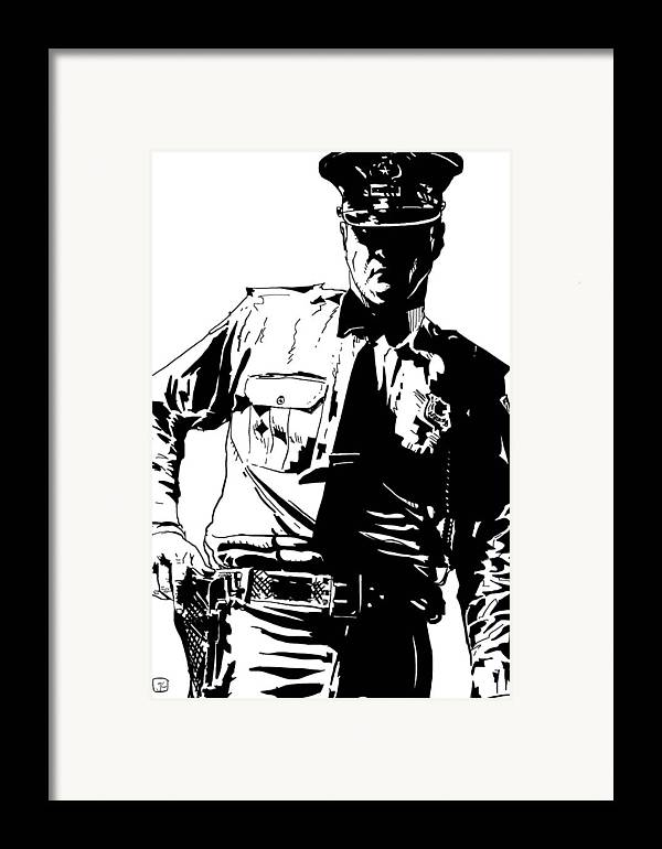 30s Framed Print featuring the drawing Freeze by Giuseppe Cristiano