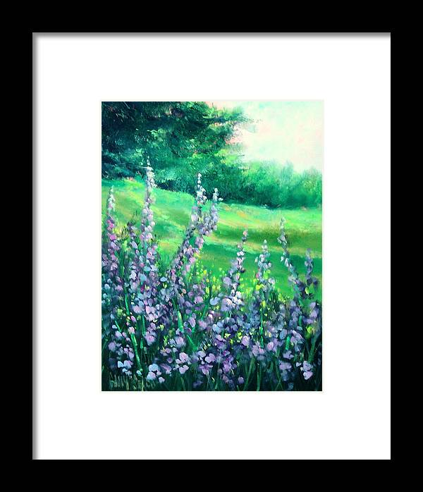 Flowers Framed Print featuring the painting Freezia by Sally Seago
