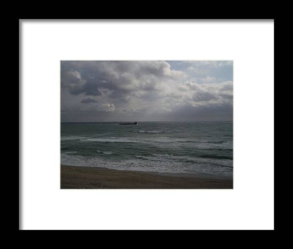 Freighter Framed Print featuring the photograph Freighter by Karen Thompson