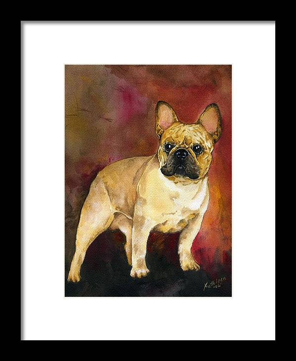 French Bulldog Framed Print featuring the painting French Bulldog by Kathleen Sepulveda