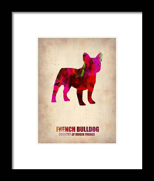 French Bulldog Framed Print featuring the painting French Bulldog Poster by Naxart Studio