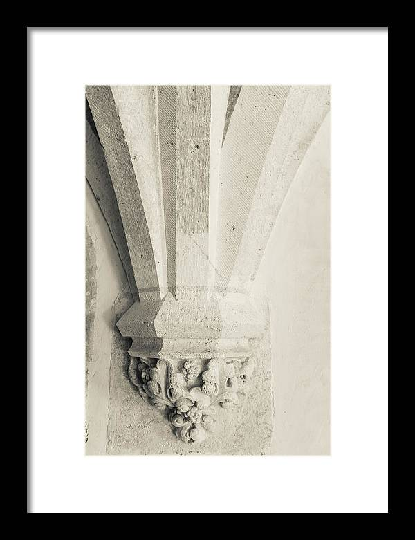 French Chateau Framed Print featuring the photograph French Chateau Architecture 1 by Georgia Fowler