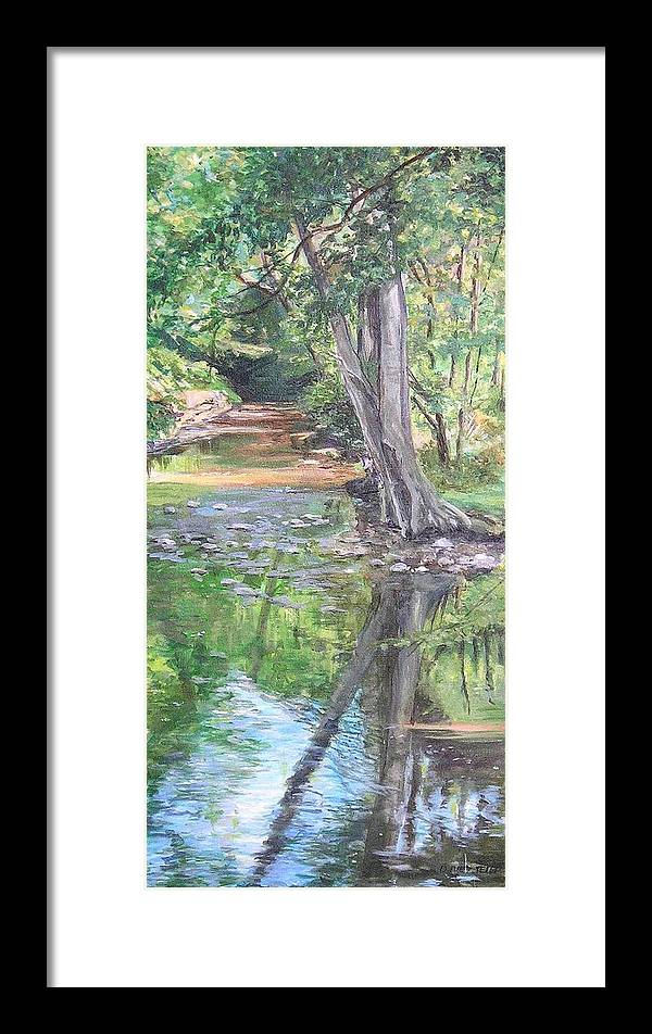 Creek Framed Print featuring the painting French Creek by Denise Ivey Telep