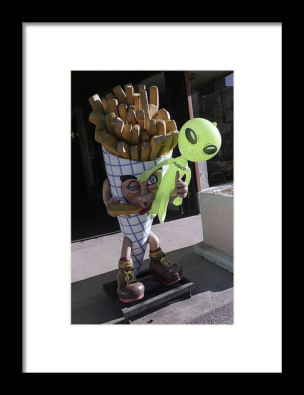 Alien Framed Print featuring the photograph French Fried Alien by Richard Henne