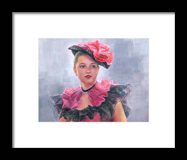 Girl Framed Print featuring the painting French Girl by Sue Halstenberg