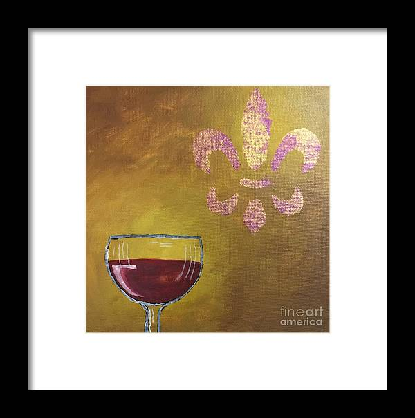 Wine Framed Print featuring the painting French Merlot by Buffy Heslin