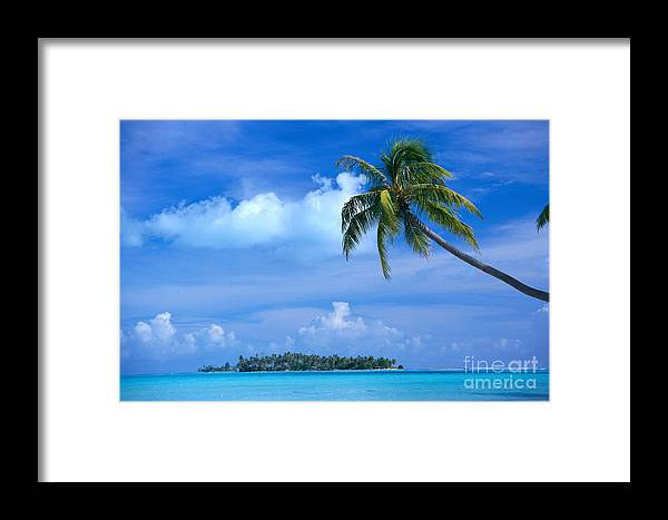 Blue Framed Print featuring the photograph French Polynesia, Bora Bo by Himani - Printscapes