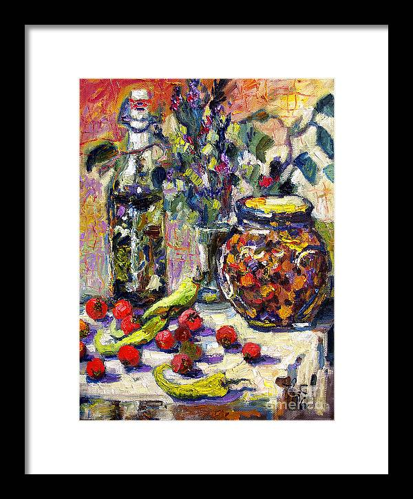 French Framed Print featuring the painting French Provence Cooking Still Life by Ginette Callaway