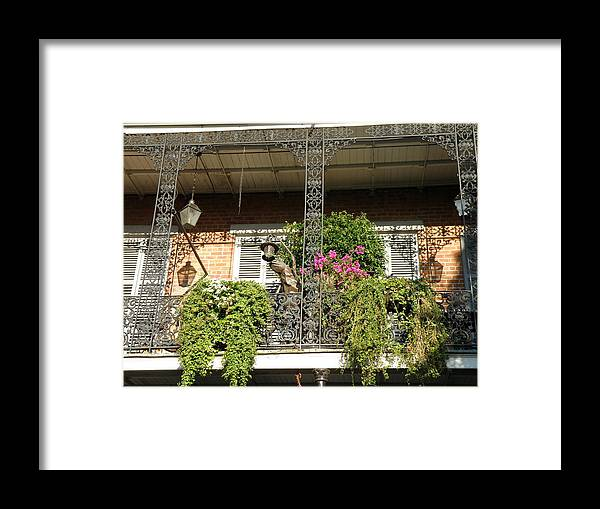 New Orleans Framed Print featuring the photograph French Quarter Balcony by Jack Herrington