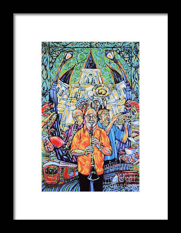 Pete Fountain Framed Print featuring the painting French Quarter Fest 2011 by Tami Curtis