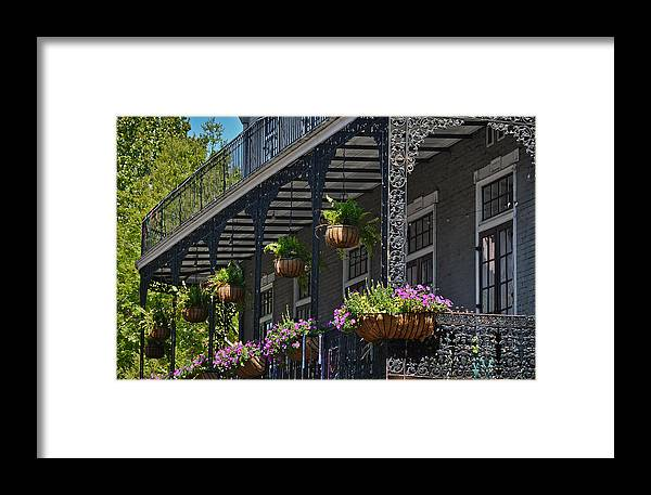 Greg Jackson Framed Print featuring the photograph French Quarter Sunlit Balcony - New Orleans by Greg Jackson