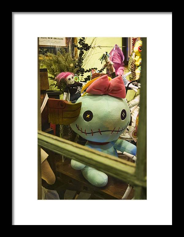 Toys Framed Print featuring the photograph French Quarter Toyshop by Heather S Huston