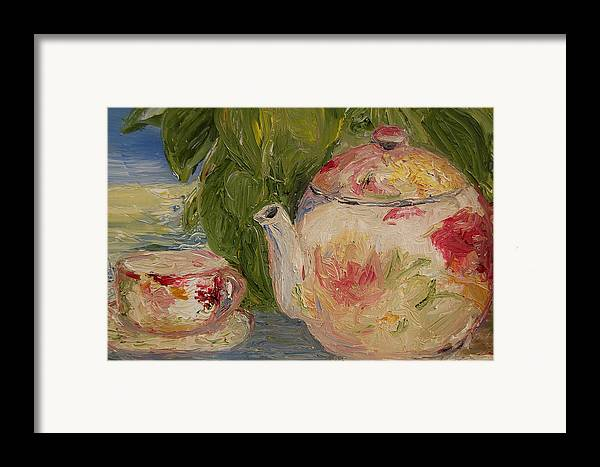 Konkol Framed Print featuring the painting French Teapot by Lisa Konkol
