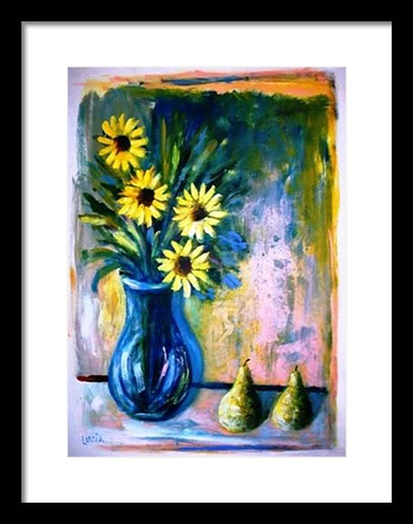 Floral Framed Print featuring the print French Vase by Carl Lucia