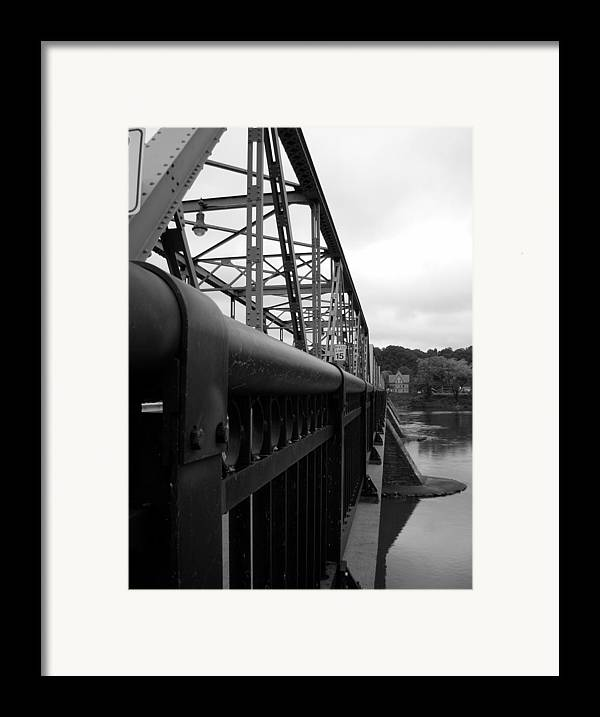 Bridges Framed Print featuring the photograph Frenchtown Bridge by Amanda Vouglas