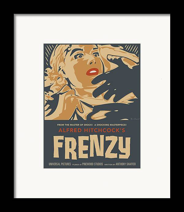 Film Framed Print featuring the print Frenzy - Thriller Noir by Bill ONeil