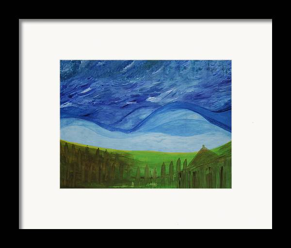 Framed Print featuring the painting Fresh Breez From Dream World by Prakash Bal Joshi