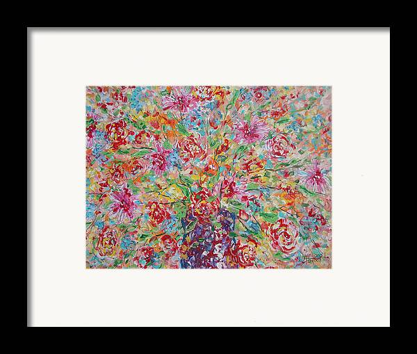 Painting Framed Print featuring the painting Fresh Flowers. by Leonard Holland