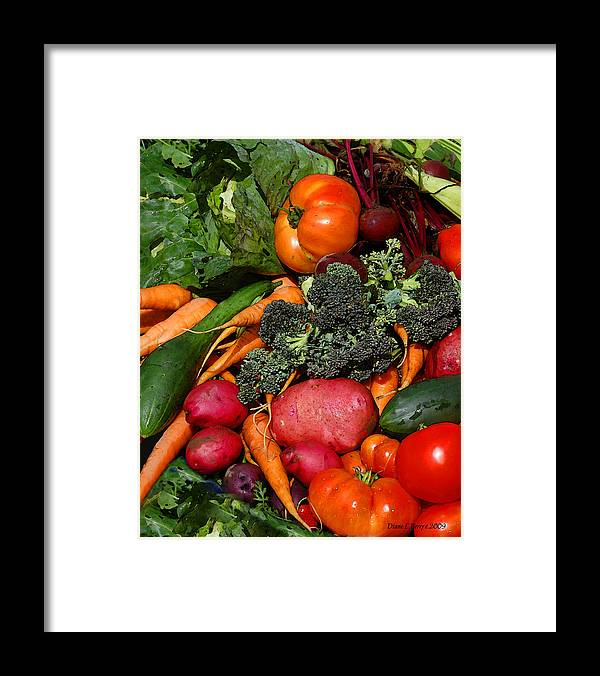 Diane Berry Framed Print featuring the painting Fresh is Best by Diane E Berry