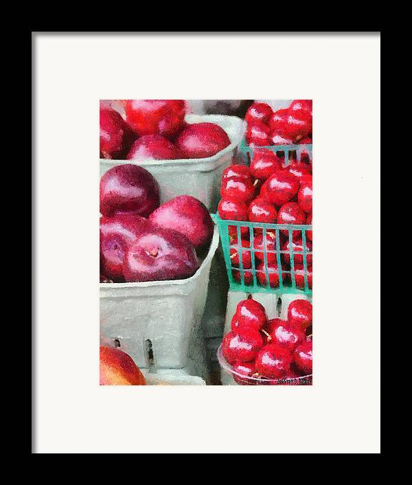 Apple Framed Print featuring the painting Fresh Market Fruit by Jeff Kolker