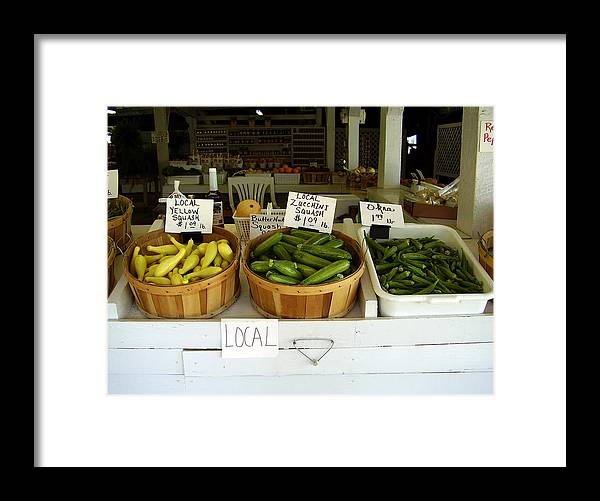 Fresh Produce Framed Print featuring the photograph Fresh Produce by Flavia Westerwelle