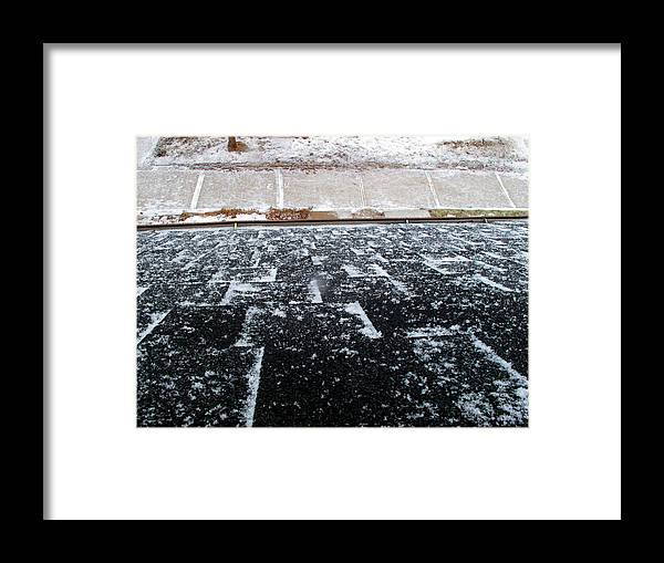 Winter Framed Print featuring the photograph Fresh Snow 2 Wc by Lyle Crump