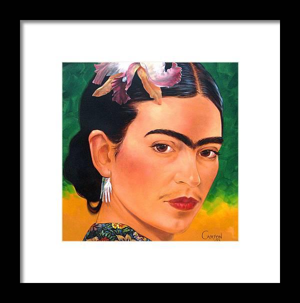 Frida Kahlo Framed Print featuring the painting Frida Kahlo 2003 by Jerrold Carton