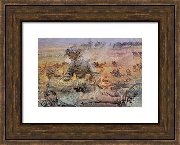 Friend to Friend Monument Gettysburg Battlefield by Randy Steele