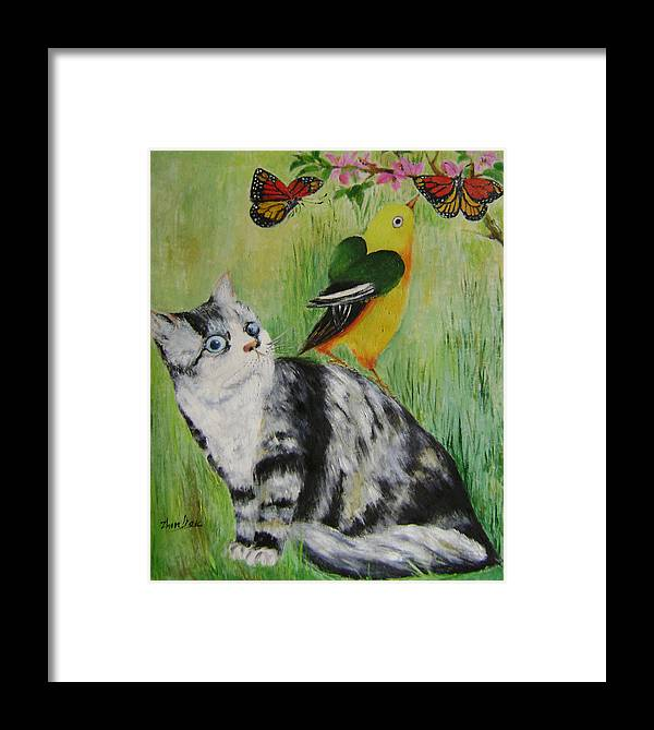 Imaginative Framed Print featuring the painting Friends Can Help by Lian Zhen