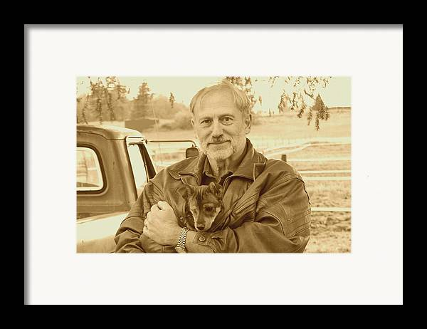 Sepia Framed Print featuring the photograph Friends by J D Banks