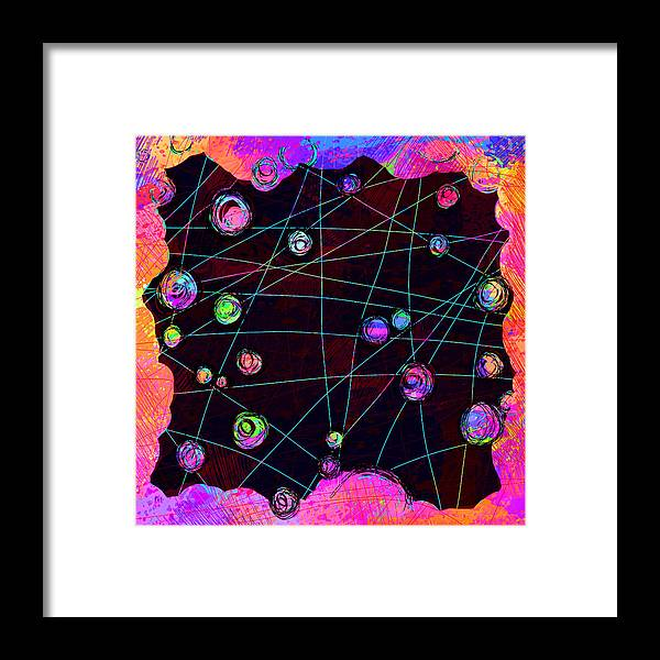 Abstract Framed Print featuring the digital art Friends by William Russell Nowicki