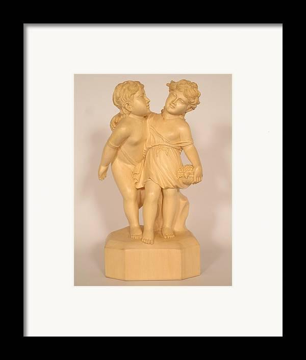Friendship Framed Print featuring the sculpture Friends by Thu Nguyen