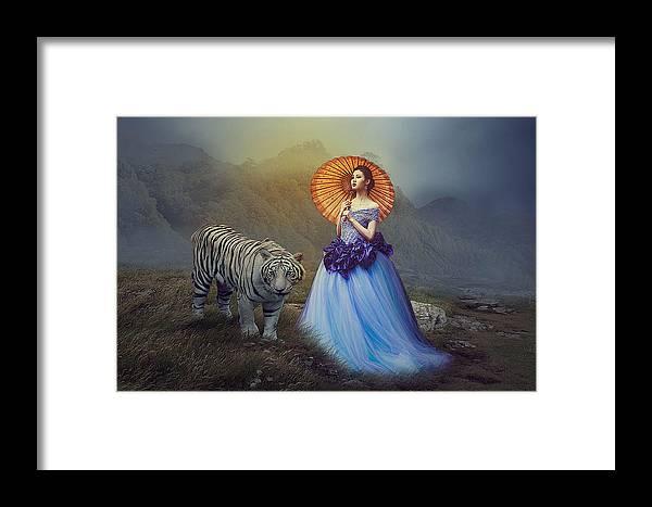 Framed Print featuring the digital art Friendship by Nicole Hernandez