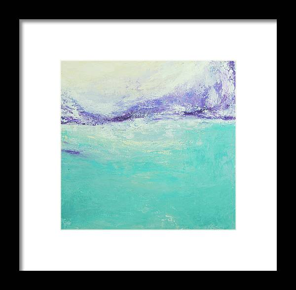Teal Framed Print featuring the painting Frigid by K Batson Art