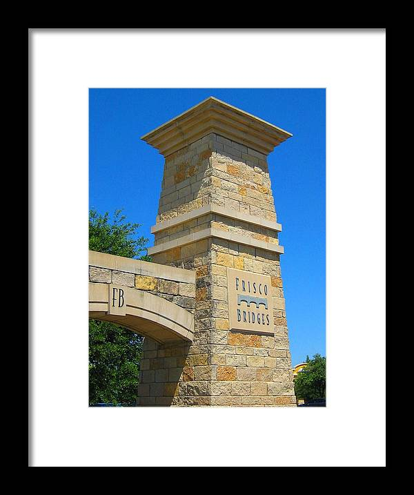 Moya Framed Print featuring the photograph Frisco Bridges by Diana Moya