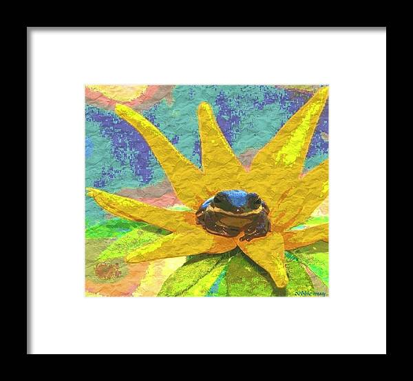 Frog Framed Print featuring the photograph Frog A Lilly 3 - Photosbydm by Debbie May