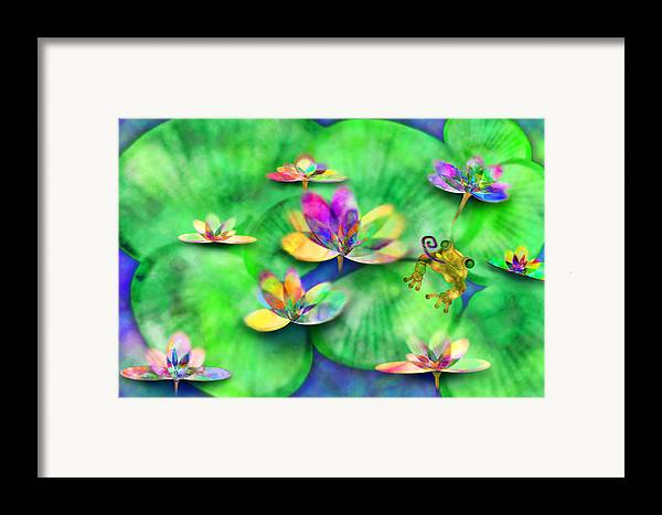 Frog Framed Print featuring the digital art Froggy by Gae Helton