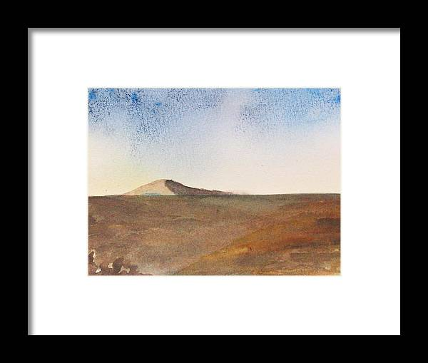 Hill Framed Print featuring the painting From A Distance by Trilby Cole