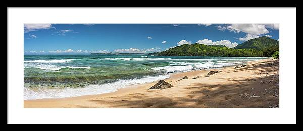 Hanalei Bay Framed Print featuring the photograph From Bali Hai To Hanalei by Torrence Johnson