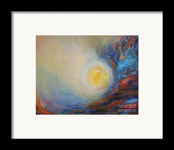 Abstract Original Painting Leilaatkinson Framed Print featuring the painting From Brahms' Requiem by Leila Atkinson