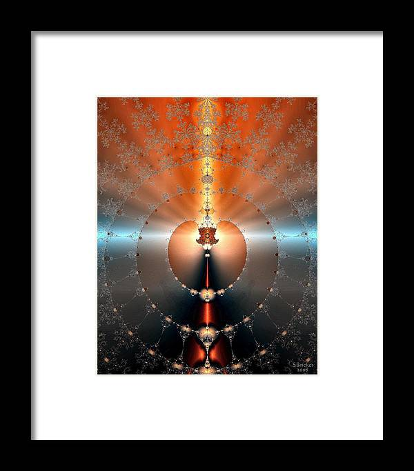 Sterling Framed Print featuring the digital art From Gold To Golden by Scott Bricker