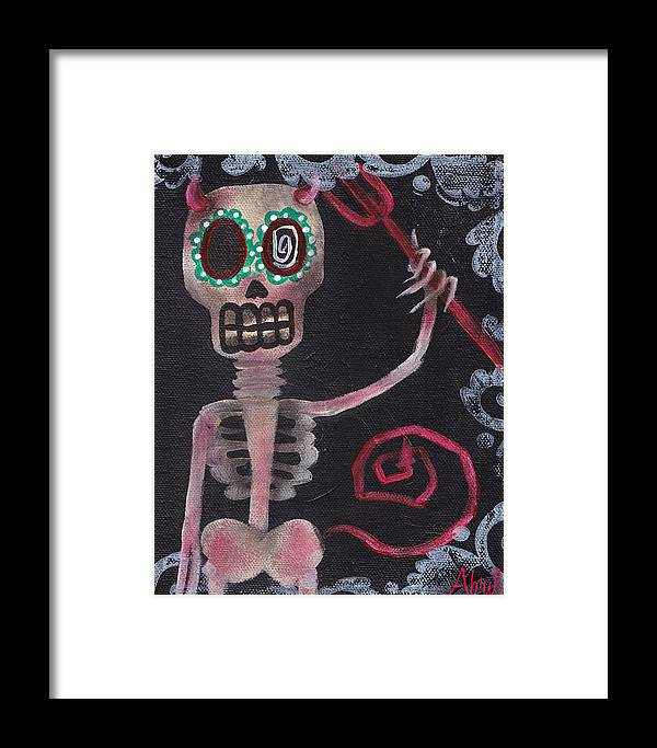 Day Of The Dead Framed Print featuring the painting From Hell by Abril Andrade Griffith