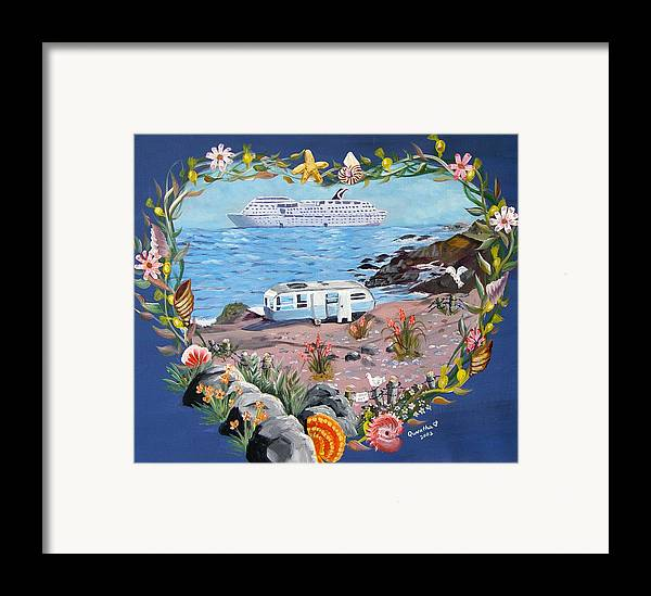 Ship Framed Print featuring the painting From Rags To Riches by Quwatha Valentine