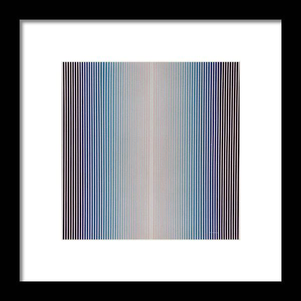 Abstract Framed Print featuring the painting From Stillness Comes... by Lyle Crump